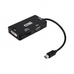Mini DisplayPort-VGA/DVI/HDMI Adapter 3 en 1 NANOCABLE 10.16.3302-BK Must