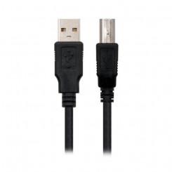 USB 2.0 A-USB B Kaabel NANOCABLE 10.01.0102-BK Must (1 M)