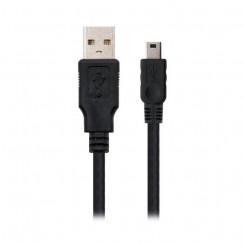USB -Mini USB Kaabel NANOCABLE 10.01.0401 Must (1 M)