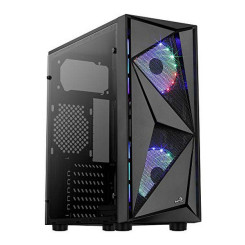 Блок полубашня Micro ATX / Mini  ITX / ATX Aerocool Glider Cosmo RGB USB 3.2 Чёрный