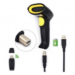 Сканер штрих-кода с подставкой Ewent EW3430 LED USB Чёрный