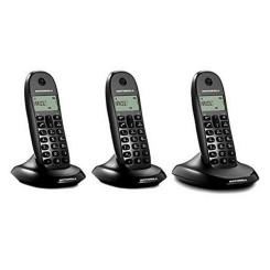 Juhtmevaba Telefon Motorola E07000D48B3AES03 (3 Pcs) Must