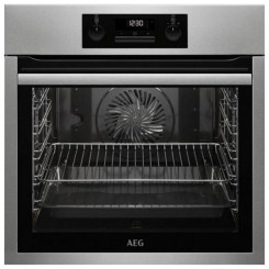 Духовка с пиролитической системой очистки Aeg BPS331120M 74 L LCD 3000W Нержавеющая сталь Чёрный