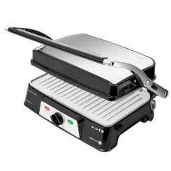 Kontaktgrill Cecotec Rock'n grill 1500 Take&Clean 1500W Must Hõbedane