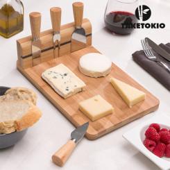 Комплект Бамбуковой Разделочной Доски для Сыра (5 штук)
