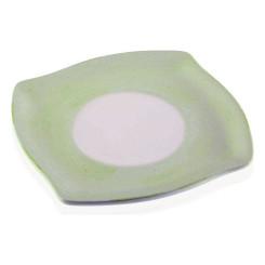 Taldrik Keraamiline Valge/Roheline