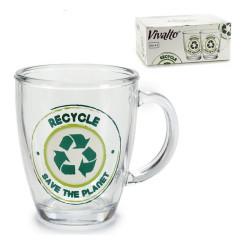 Кружка Recycle Save The Planet Стеклянный (32 cl)