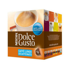 Kohvikapslid Nescafé Dolce Gusto 94331 Caffè Lungo Decaffeinato (16 uds)