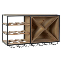 Pudelialus DKD Home Decor Pruun Must Metall Puit MDF (80 x 24 x 44 cm)