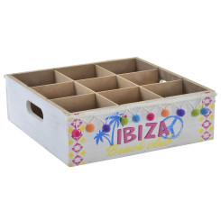 Pudelialus DKD Home Decor Ibiza Puit Kangas (26.5 x 27 x 8.5 cm)
