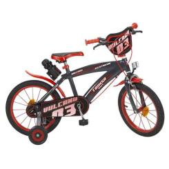 Jalgratas Vulcano 16 Must Punane