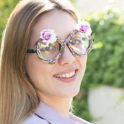 Fashion Peoprillid Lillede Ja Kalliskividega