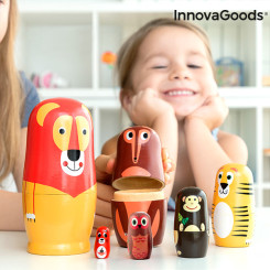 Деревянная матрешка с фигурками животных Funimals InnovaGoods 11 предметы