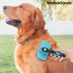 Sissetõmmatavate Harjastega Lemmikloomade Puhastushari Groombot InnovaGoods