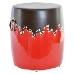 Tumba DKD Home Decor Must/Punane Keraamika (33 x 33 x 38 cm)