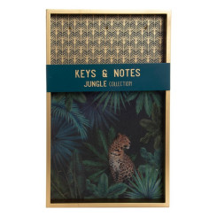 Шкаф для ключей DKD Home Decor Jungle (25 x 4 x 40 cm)