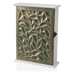 Шкаф для ключей Бронзовый Деревянный MDF (6,5 x 27 x 20 cm)