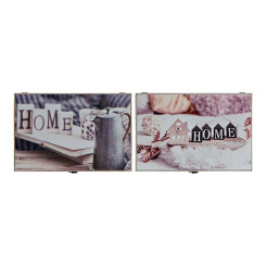 Крышки DKD Home Decor бухгалтер Деревянный MDF (2 pcs) (46 x 6 x 32 cm)