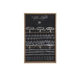 Шкаф для ключей DKD Home Decor Чёрный Металл Деревянный MDF (24 x 4 x 38 cm)
