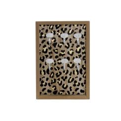 Шкаф для ключей DKD Home Decor Чёрный Металл Деревянный MDF (20 x 3 x 30 cm)