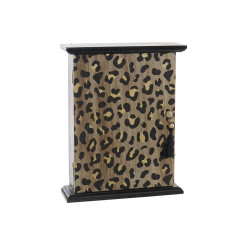 Шкаф для ключей DKD Home Decor Чёрный Деревянный MDF (21 x 6 x 26.5 cm)