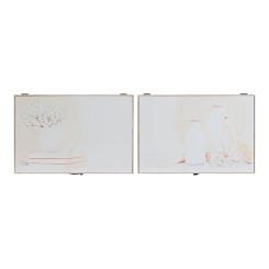 Võtmekapp DKD Home Decor Beež Puit MDF (2 pcs) (46 x 6 x 32 cm)