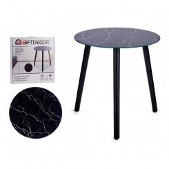 Вспомогательный стол Чёрный Стеклянный (40 x 41,5 x 40 cm)