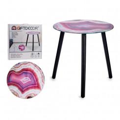 Вспомогательный стол Розовый Стеклянный (40 x 41,5 x 40 cm)
