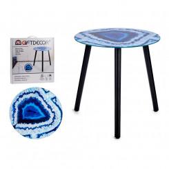 Вспомогательный стол Синий Стеклянный (40 x 41,5 x 40 cm)
