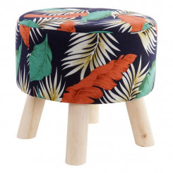 подставка для ног DKD Home Decor Tropical полиэстер Деревянный Тропический (35 x 35 x 33 cm)