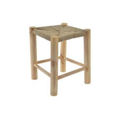 подставка для ног DKD Home Decor Деревянный Веревка (31 x 31 x 38.5 cm)