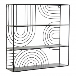 Riiulid DKD Home Decor Must Metall (40 x 11 x 40 cm)