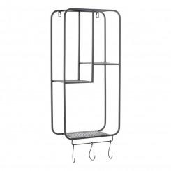 Riiulid DKD Home Decor Riidenagi Must Metall (30 x 15 x 72 cm)