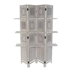 Ширма DKD Home Decor Белый Деревянный (120 x 31 x 180 cm)