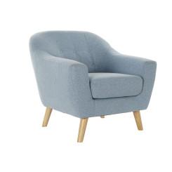 Кресло DKD Home Decor полиэстер древесина каучукового дерева Небесный синий (81 x 80 x 80 cm)
