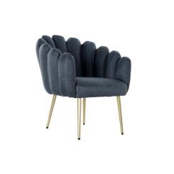 Кресло DKD Home Decor Синий полиэстер Металл (67 x 64 x 77 cm)