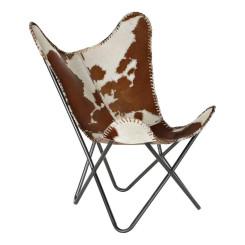Кресло DKD Home Decor Белый Коричневый Кожа (70 x 70 x 90 cm)