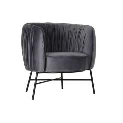 Кресло DKD Home Decor Чёрный Серый полиэстер Металл (78 x 74 x 78 cm)