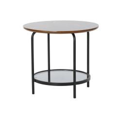 Вспомогательный стол DKD Home Decor Деревянный Стеклянный Железо (50 x 50 x 45 cm)