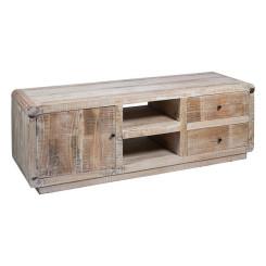 ТВ-тумба с ящиками (158 x 50 x 60 cm) Древесина кипариса