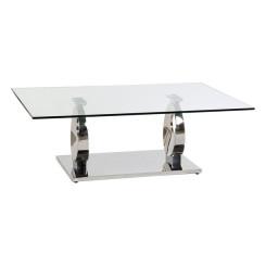 Вспомогательный стол Dekodonia PRAISE Стеклянный Сталь (130 x 70 x 42 cm)