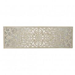 Изголовье кровати DKD Home Decor Белый Позолоченный Зеркало Деревянный MDF (183 x 3 x 61 cm)