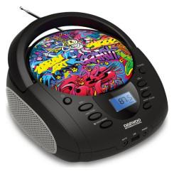 Raadio-CD-MP3-mängija Daewoo Grafitty DBU-11 Must