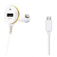 Autolaadija Ref. 138192 USB Micro USB Valge