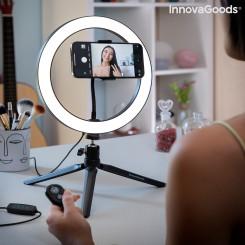 Rõngakujuline valgusti  selfi pildistamiseks  koos statiivi ja kaugjuhtimispuldiga Youaro InnovaGoods