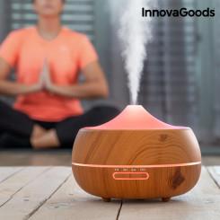 Увлажняющий Испаритель Аромамасел со Светодиодом Wooden-Effect InnovaGoods