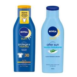 Päikesekaitse komplekt Protege & Hidrata Nivea (2 pcs)