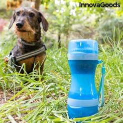 Kaks-ühes pudel vee- ja toiduanumatega lemmikloomadele Pettap InnovaGoods