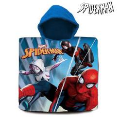 Kapuutsiga rätik-pontšo Spiderman (60 x 120 cm)