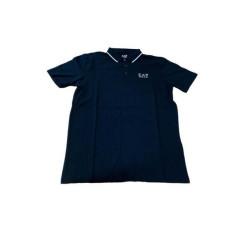 Поло с коротким рукавом мужское Armani Jeans 3GPF51 Тёмно синий